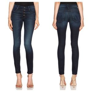 [Mother] Pixie Dark Wash Button Fly Skinny Jeans